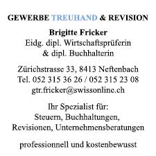 Gewerbe  Treuhand und Revision, Neftenbach